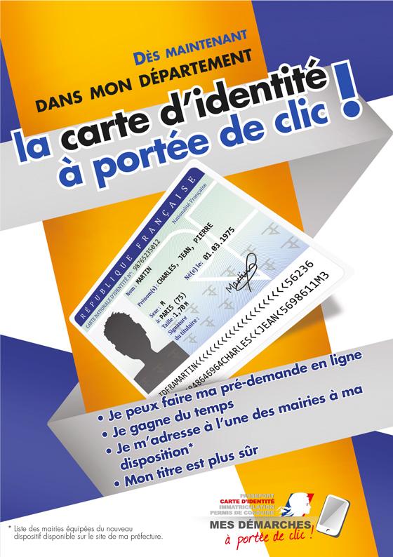 Affiche Préfecture de l'Essonne - La carte d'identité à portée de clic !